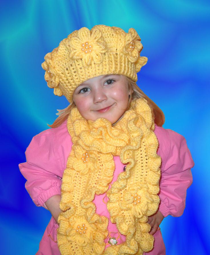 Вязание шарф для девочки на осень 413